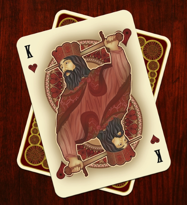 Bicycle-Nouveau-Playing-Cards-by-BFPC-King-of-Hearts