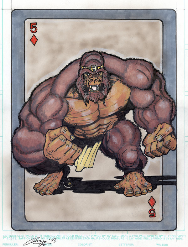 DC-Comics-Playing-Cards-by-Andrew-Amiya-Gorilla-Grodd
