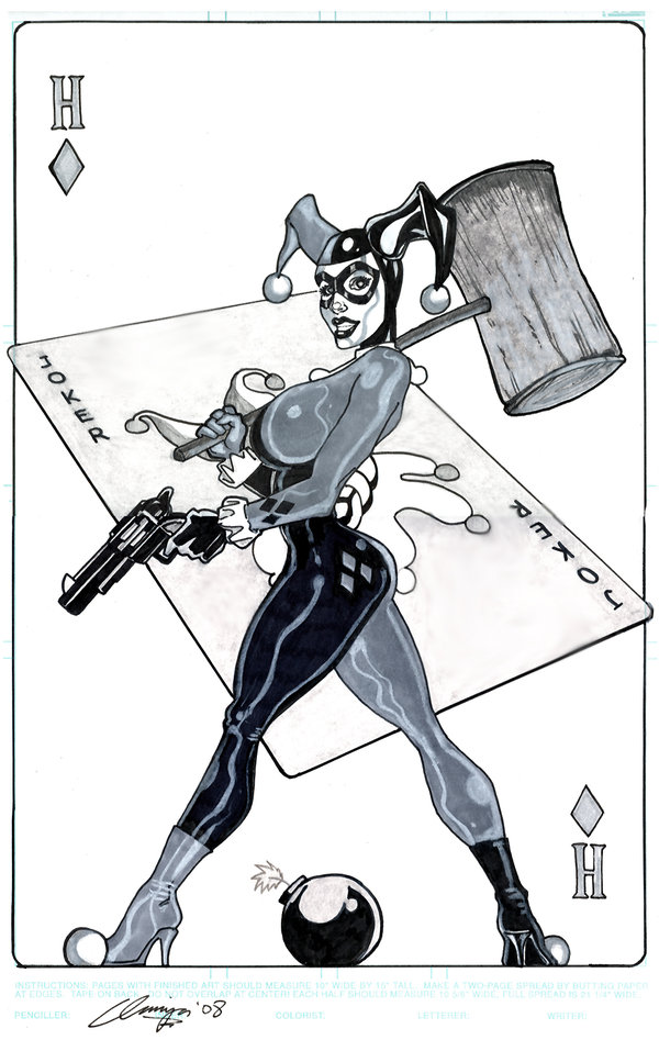 DC-Comics-Playing-Cards-by-Andrew-Amiya-Harley-Quinn