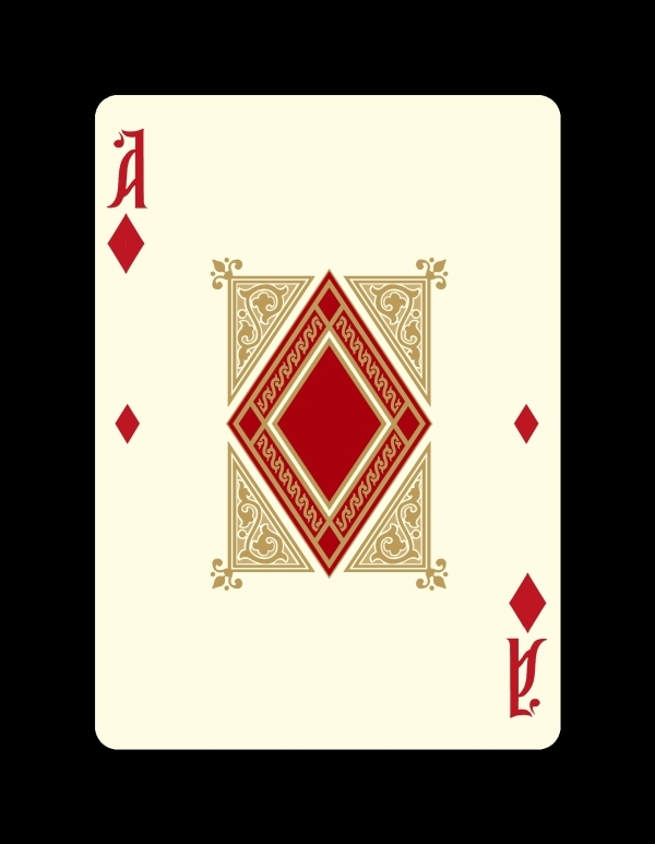 Icons-Playing-Cards-by-Lotrek-Imperial-Edition-Ace-of-Diamonds