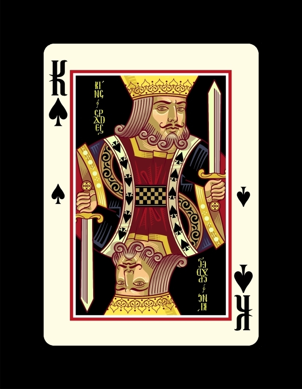 Icons-Playing-Cards-by-Lotrek-Imperial-Edition-King-of-Spades
