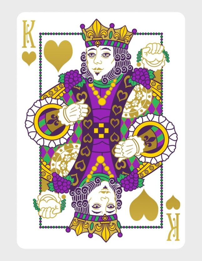 Mardi-Gras-Playing-Cards-by-Dave-Edgerly-King-of-Hearts