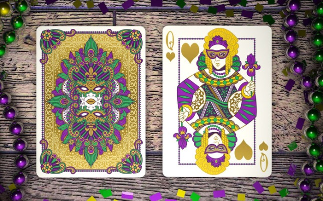 Mardi-Gras-Playing-Cards-by-Dave-Edgerly-Queen-of-Hearts