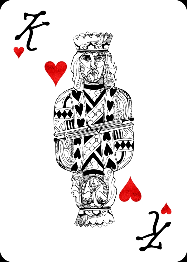 Pink-Floyd-Playing-Cards-by-Carmen-Wong-King-of-Hearts