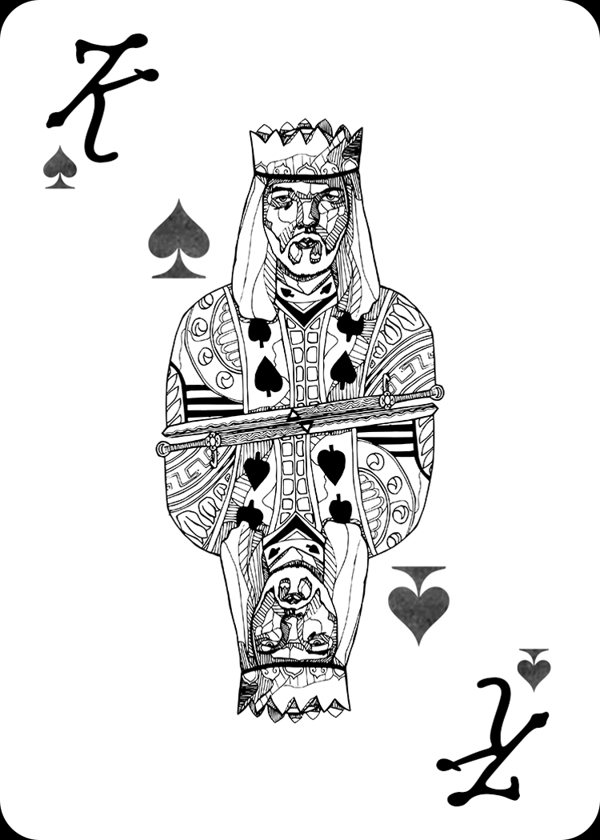 Pink-Floyd-Playing-Cards-by-Carmen-Wong-King-of-Spades
