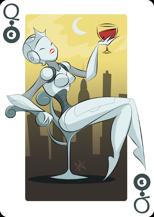 Playing-Cards-by-Mike-Wilcox-Queen-of-Robots