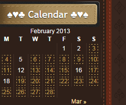 PlayingCardCollector.net-Sidebar-Calendar