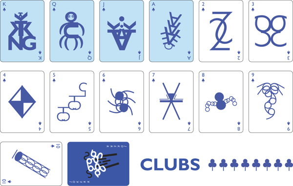 Gill-Sans-Typographic-Playing-Cards-by-Steve-Abercrombie-Clubs