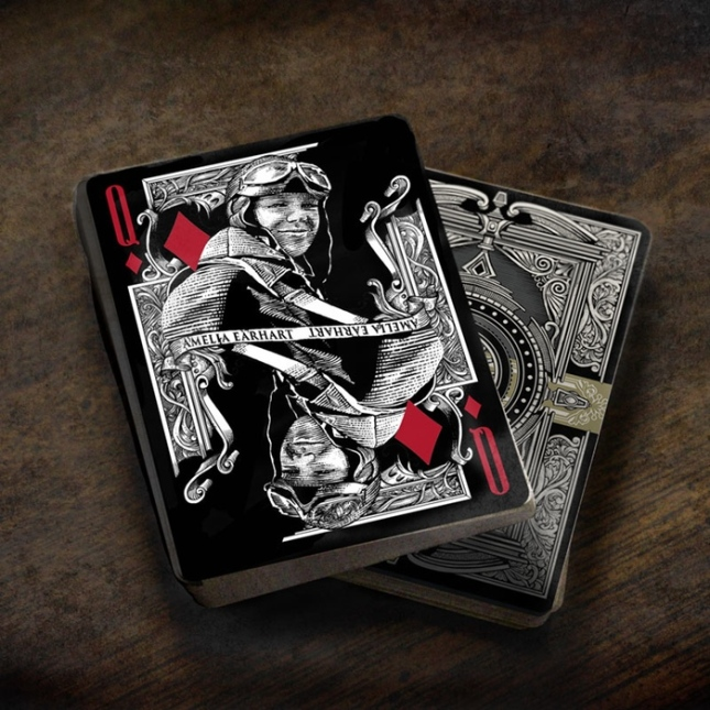 Innovation-Playing-Cards-by-Jody-Eklund-Amelia-Earhart-black