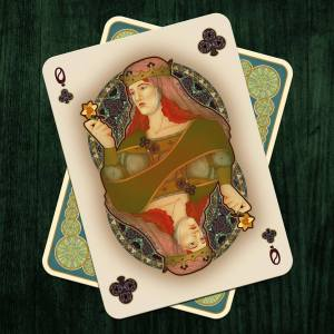Nouveau-Playing-Cards-by-BFPC-Queen-of-Clubs