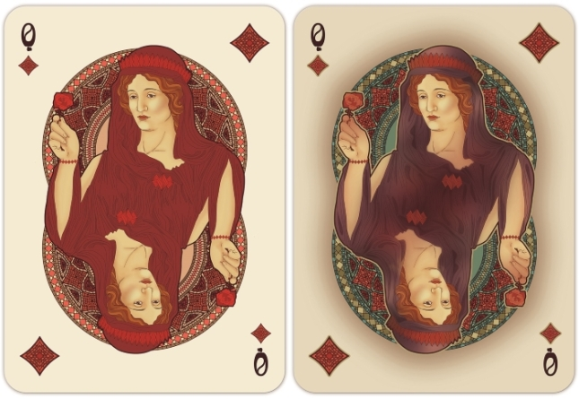Nouveau-Playing-Cards-by-BFPC-Queen-of-Diamonds