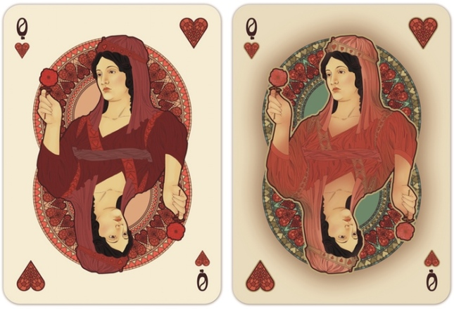 Nouveau-Playing-Cards-by-BFPC-Queen-of-Hearts