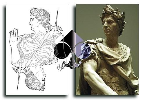Nouveau-Playing-Cards-Julius-Caesar