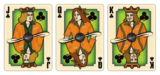 Midnight-BOWL-A-RAMA-Playing-Cards-by-Randy-Butterfield-Courts-Clubs