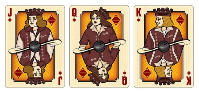 Midnight-BOWL-A-RAMA-Playing-Cards-by-Randy-Butterfield-Courts-Diamonds