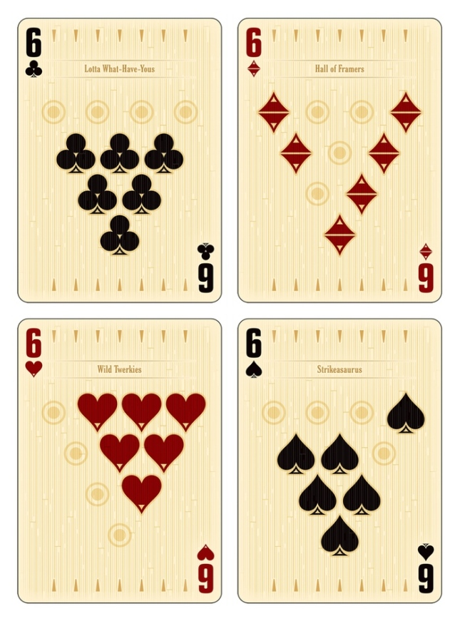 Midnight-BOWL-A-RAMA-Playing-Cards-by-Randy-Butterfield-Number-Cards
