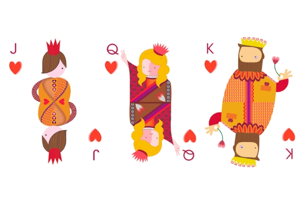 Playing-Cards-by-Siobhan-Gallagher-Courts-Hearts