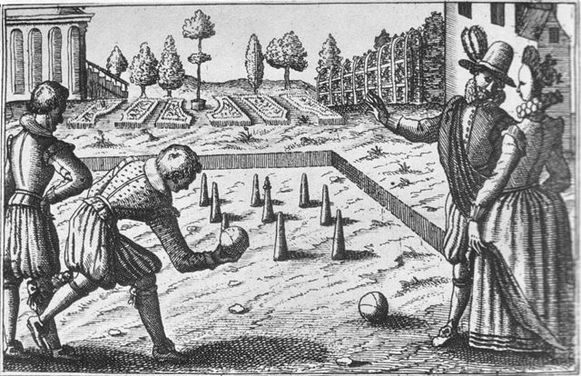 Woodcut-Bowling-16th-century