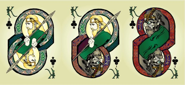 Bicycle-Celtic-Myth-Playing-Cards-by-James-Acken-Kings