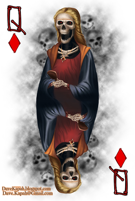 Playing-Cards-by-David-Kapah-Queen-of-Diamonds