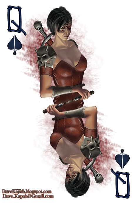 Playing-Cards-by-David-Kapah-Queen-of-Spades